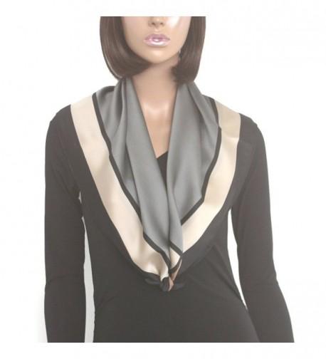 Kkusebo Printed neckscarf 27X27inch BLACKGREY in Fashion Scarves
