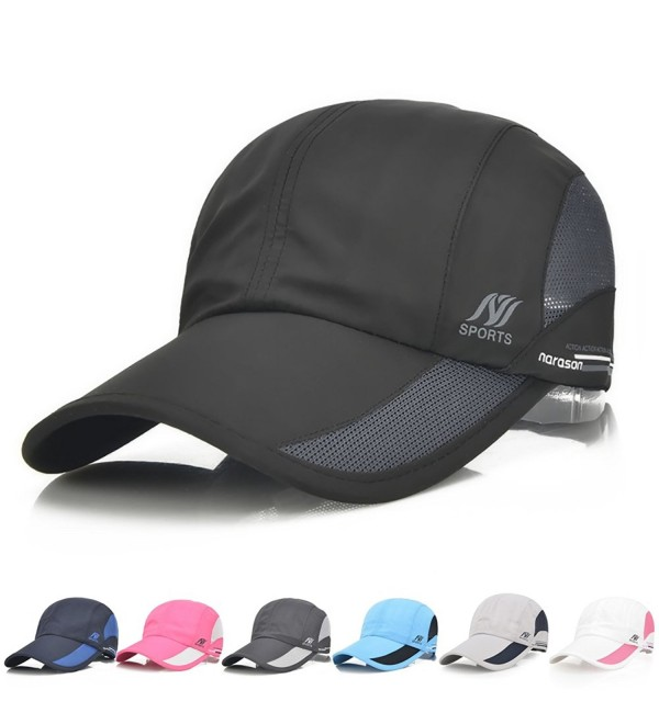 Sport Cap Summer Quick drying Sun Hat UV Protection Outdoor Cap For Men- Women - Black - CJ187AEODLX