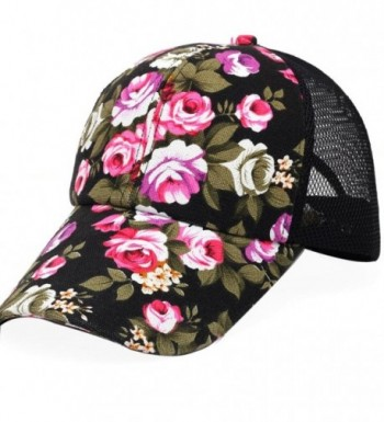 Bestpriceam Fashion Floral Snapback Hip-Hop Hat Flat Peaked Baseball Cap - Black - CS12IYFLC33