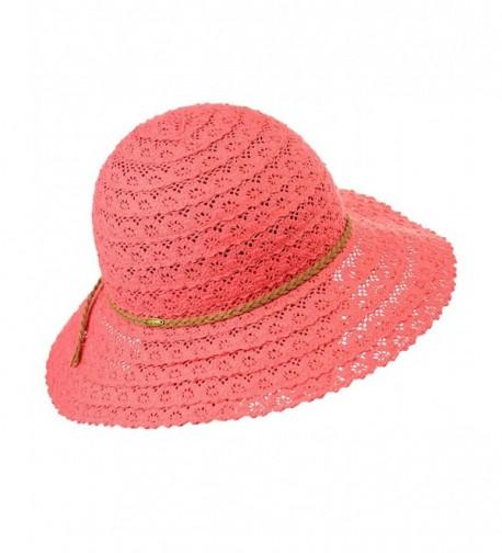 NYFASHION101 Brown Braided Vented Cotton in Women's Sun Hats