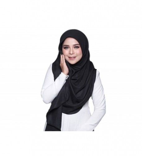 Fyka Instant Ready to Wear Hijab Shawl Scarf Elegant Style for Muslim Islamic Ladies Multicolor - Black - CP189Z0UX8E