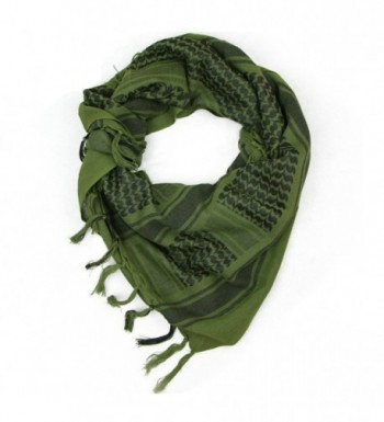 Neodot Tactical Desert Military Shemagh Arab Keffiyeh Neck Scarf Head Wrap 100% Cotton - Army Green - CC186GGT7S9
