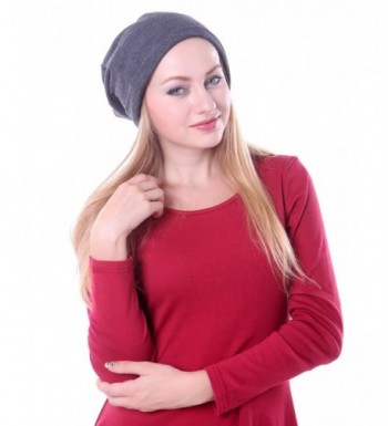 HDE Unisex Double Layer Slouchy Baggy Warm Winter Fashion Beanie Skully Hat - Dark Gray - CL11HQ2XR43