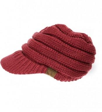 Crane Clothing Co. Women's Knit CC Cap - Burgundy - C01859OKCLX