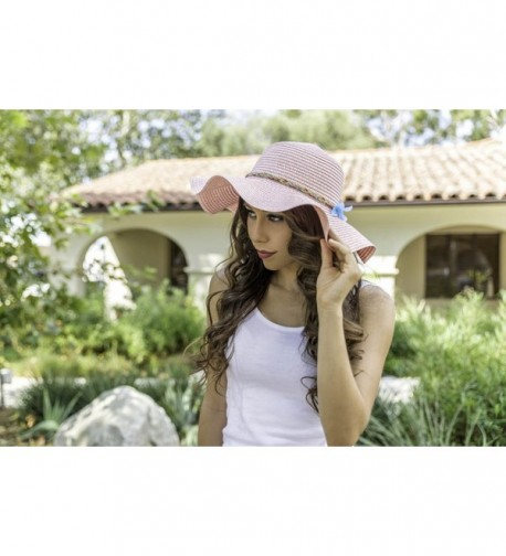 Aerusi Womens Flower Summer Floppy in Women's Sun Hats