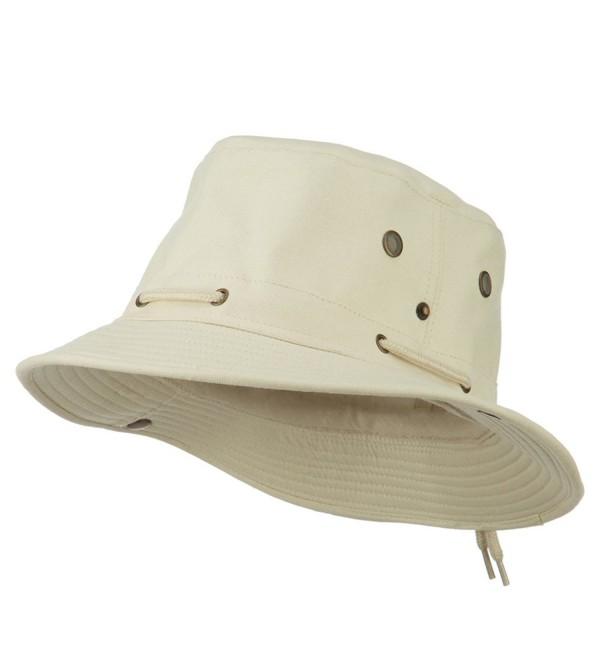 UPF 50+ Canvas Boonie Hat - Beige - CQ11PN6F6PH