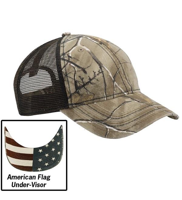 Realtree Xtra Camo and American Flag Baseball Hat - Realtree Xtra W/ Usa Flag Undervisor - CV12I5CFXET