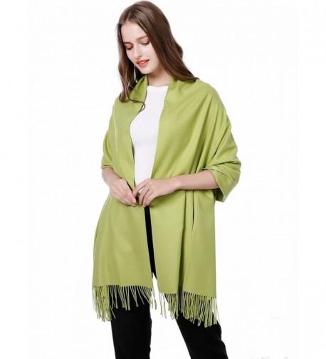 "JAKY Global Cashmere Scarf Pashminas Wraps Shawl Super Soft Warm 78"" x 27"" Scarves Women Men - Grass Green - CP185L03HG6"
