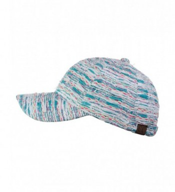 C C Metallic Multicolor Adjustable Precurved in Women's Baseball Caps