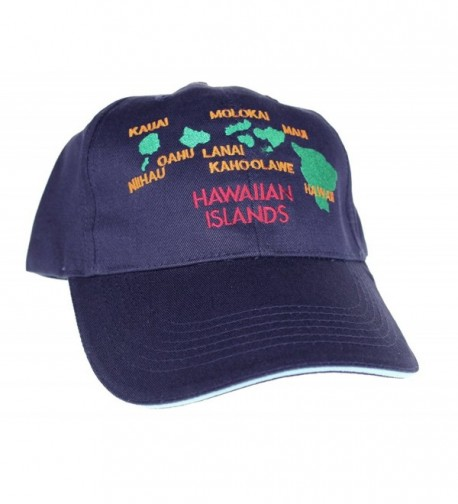 Hawaiian Islands Cap Hats- Navy - CW116MFU135