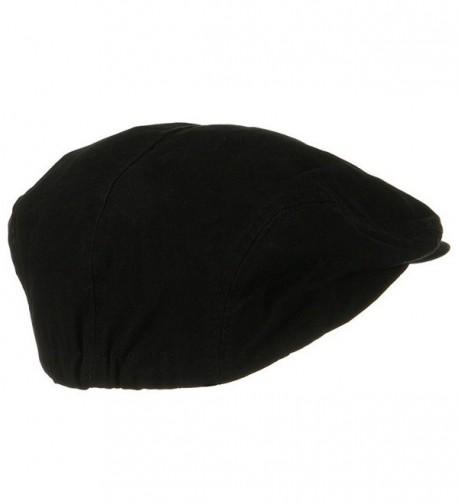 Black Washed Canvas Cabbie Cap