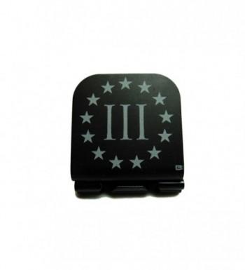 Three Percenter 3% Laser Etched Hat Clip Black - CK129IDHQ5N