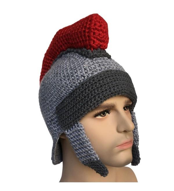 Kafeimali Men's Knight Knit Beard Hat Original Barbarian Warrior Halloween Caps - Gary D - C21872SC2IX