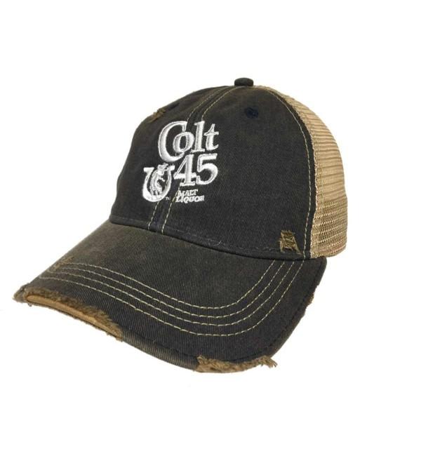 Original Retro Brand Colt 45 Malt Liquor Brewing Company Retro Brand Vintage Mesh Beer Adjust Hat Cap - CI12N202UP7