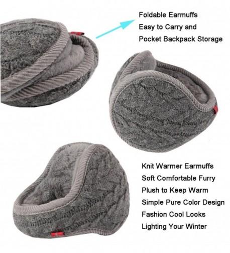 Earmuffs Polemax Foldable Adjustable Earwarmer in Women's Cold Weather Headbands