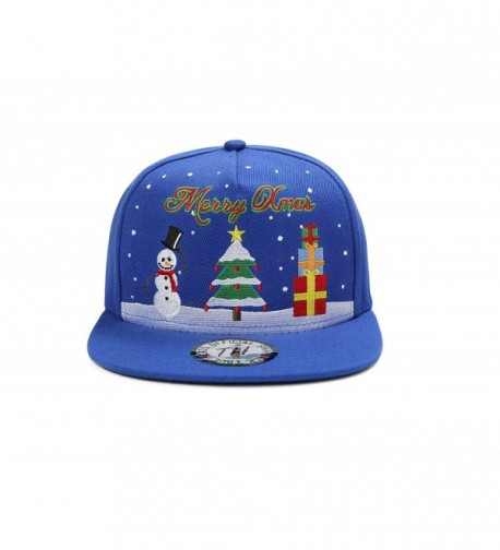 MERRY Christmas Snowman Snapback Baseball