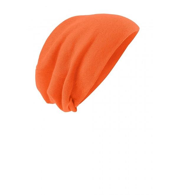 KAMAL OHAVA Slouch Beanie Skull Cap - Neon Orange - CR12G4RR5AB