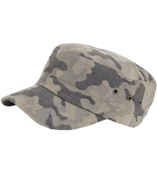 RaOn A160 New Pre-curved Military Camoflage Pattern Club Army Cap Cadet Military Hat - Brown - CW17YCI4TY9