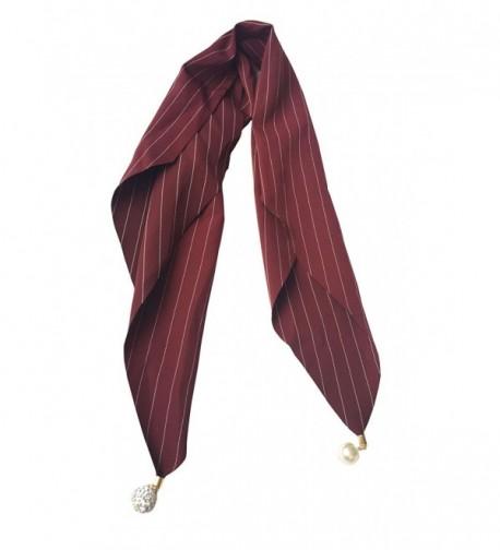 GERINLY Neckerchief Jewelry Fashion Pinstripe