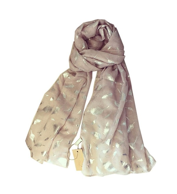 Fashion Warm Scarf Lightweight Wraps Party Shawl Cover Feather Long Scarves - Nude Pink - CT187E4MO3Q
