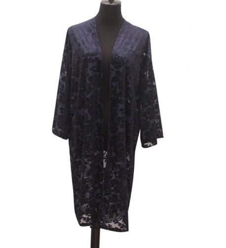 Velvet Kimono Sleeve Cardigan Shawls