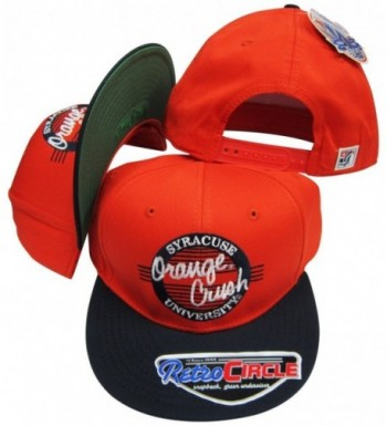 Syracuse Orangemen Orange Crush Circle Snapback Adjustable Snap Back Hat / Cap - CL116A6QGCZ