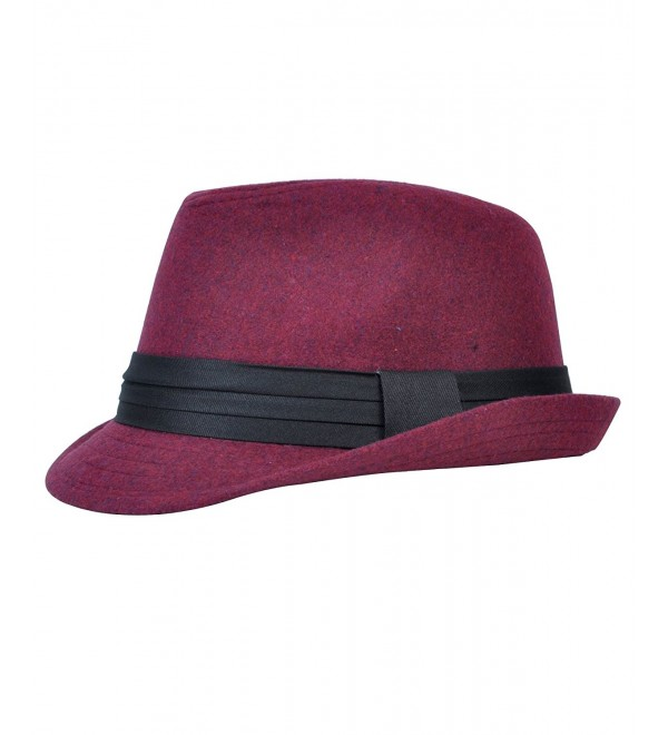 Men's All Season Fashion Wear Fedora Hat - Red - CT12BOAS7T1