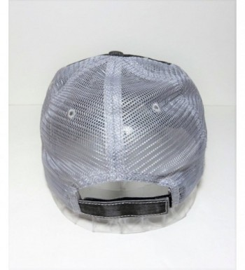 White Glitter Distressed Trucker Fashion in Women's Baseball Caps