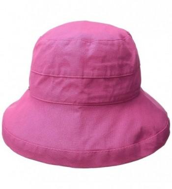 Scala Women's Medium Brim Cotton Hat - Crimson Rose - CW11K4A5HUP