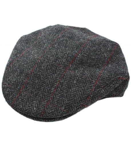 Trinity Cap 100% Wool Charcoal Herringbone Irish Made Mucros - C511RCEK0VN