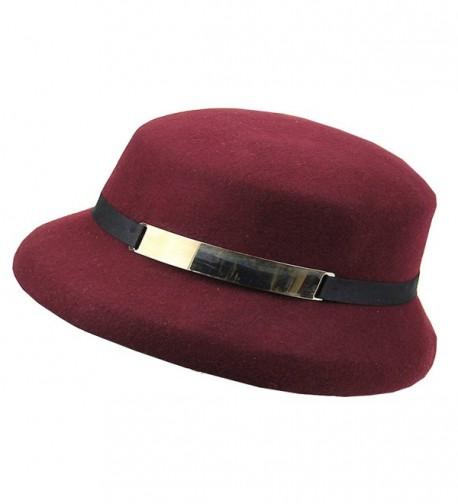 Maitose Womens Simple Wool Bucket in Women's Bucket Hats