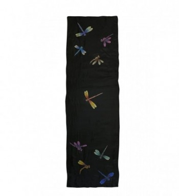 Invisible World Womens Painted Dragonflies in Fashion Scarves