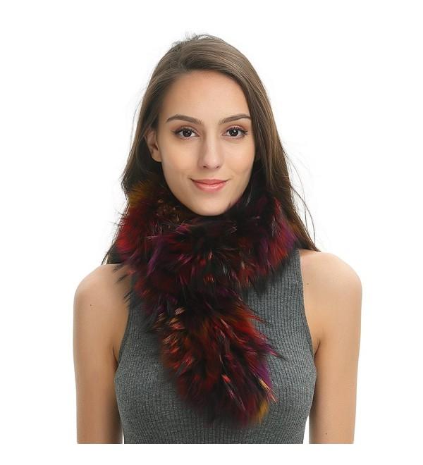 Ferand Cozy Winter Warm Real Raccoon Fur Scarf for Women - Multicoloured - CZ187GXLATR