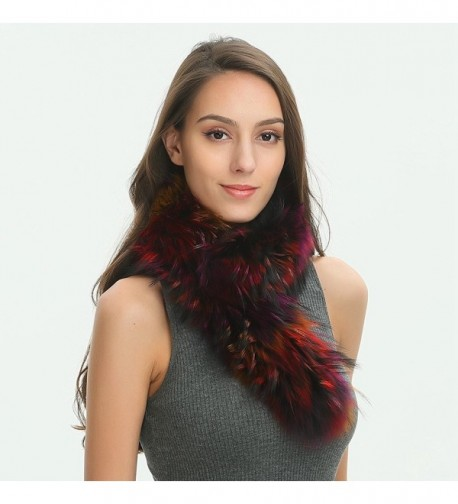 Ferand Winter Raccoon Scarf Multicoloured in Fashion Scarves