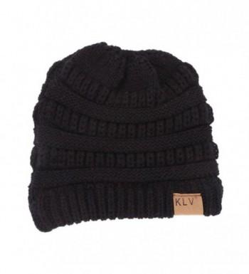 Digood_Hat Stretch Ponytail Crochet Slouchy in Women's Skullies & Beanies