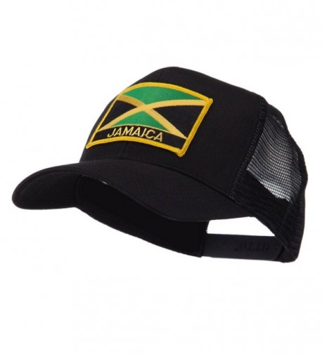 North and South America Flag Letter Patched Mesh Cap - Jamaica W42S52F - CB11E8TSOL3