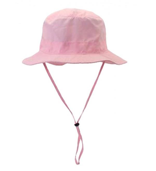 MatchLife Outdoor Soft Outdoor Sun Cap Soft Bucket Mesh Unisex Boonie Hat - Pink - CU183EZXUIH