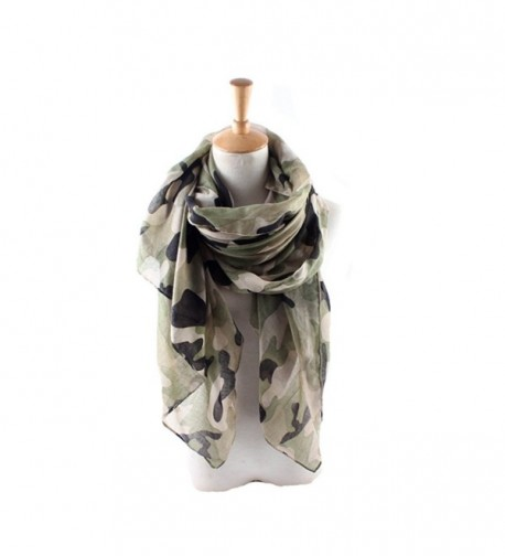 ctshow Camouflage Print Voile Print Scarf Fashionable Women Scarves - Army Green - CN182XK8EZQ