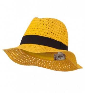 Paper Crushable Panama Hat - Yellow - CK11ND5HT3R