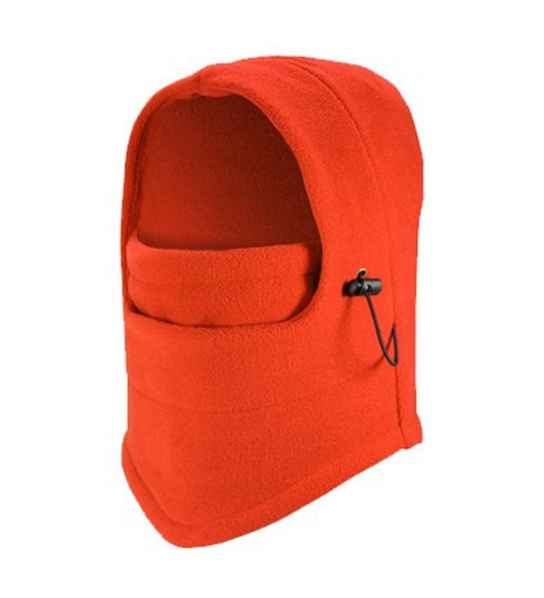 TargetEvo Windproof Fleece Balaclava Hood Thermal Motorcycle Mask - orange - CG12O9RSE7L