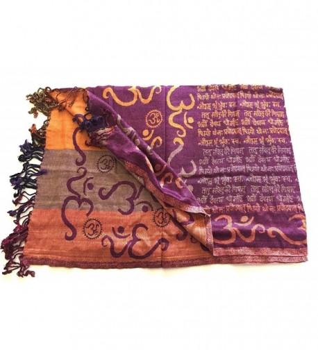 Prayer Meditation Sacred Gayatri Mantra in Wraps & Pashminas