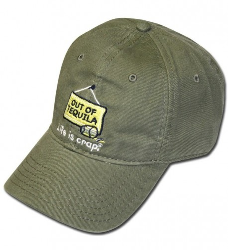 Life Is Crap Hat w/ Pocket : Out Of Tequila - Green - CI11GCK5DJH