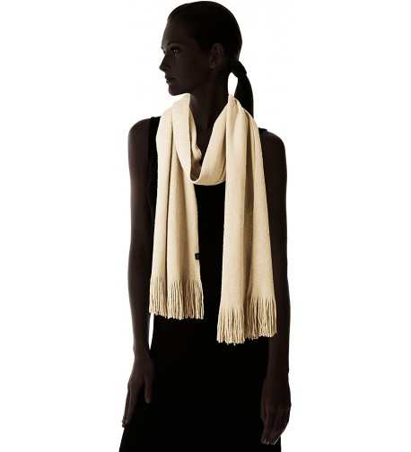 Echo Womens Muffler Scarf Fringe in Cold Weather Scarves & Wraps