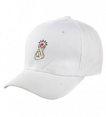 NE Norboe Summer Hip Hop Finger Shape Hat Casual Baseball Visor Outside Cap - White - CP12OBREVCZ