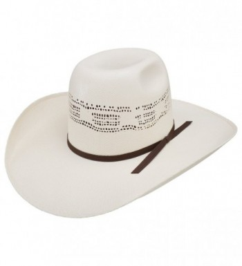 Resistol Mens Super Duty 4 1/4 Brim Natural Straw Cowboy Hat - Natural - CS17YDIX59E