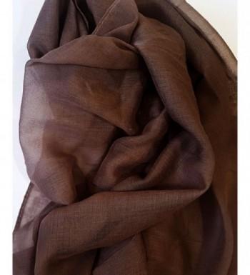 SoLine Scarves Blanket lightweight Deepbrwon in Fashion Scarves
