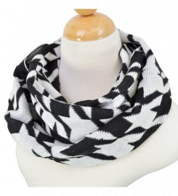 Classic Premium Houndstooth Infinity Circle in Fashion Scarves