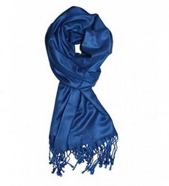 Dealzip Inc Luxurious Pashmina Beautiful - Cobalt Blue - C211SH0Y66B