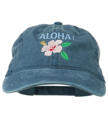 Hawaii Flower Aloha Embroidered Washed