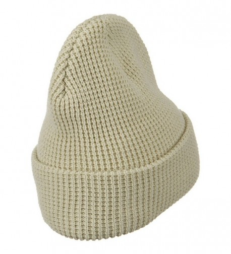 Stretch Waffle Stitch Cuff Beanie in Men's Skullies & Beanies